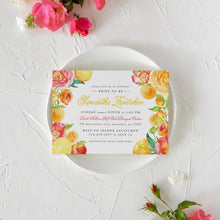 Load image into Gallery viewer, Citrus Bridal Shower Invitation