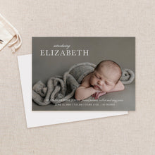 Load image into Gallery viewer, Elegant Birth Announcement