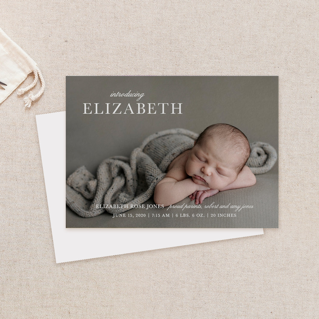Elegant Birth Announcement