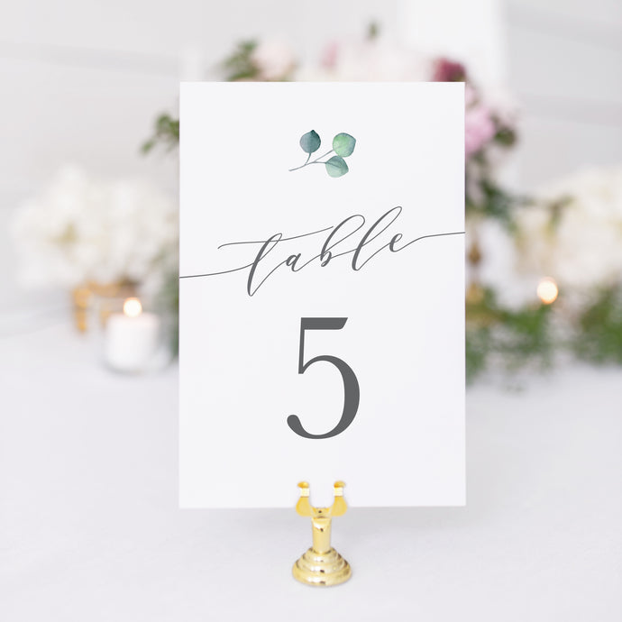 Elizabeth Table Number