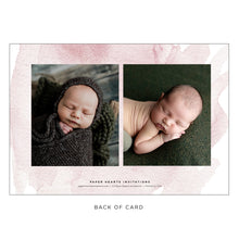 Load image into Gallery viewer, Block Name Pink Birth Announcement