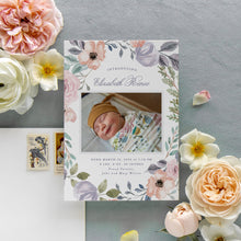 Load image into Gallery viewer, Floral Wreath Birth Announcement
