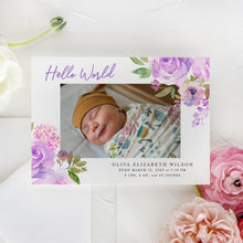 Load image into Gallery viewer, Hello World Birth Announcement