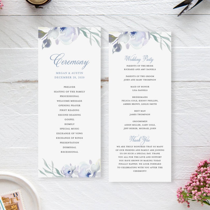 Megan Ceremony Program