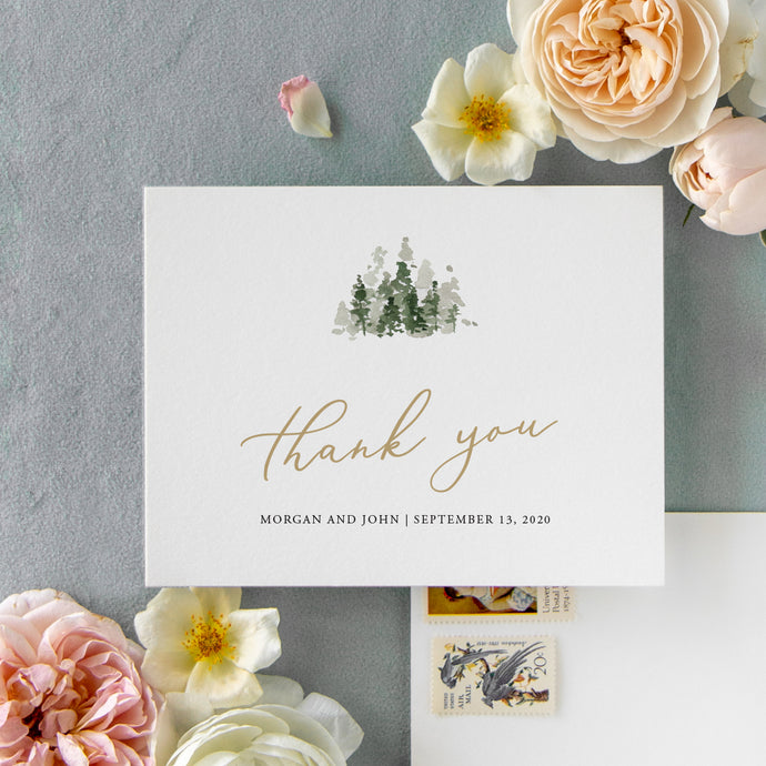 Morgan Thank You Card