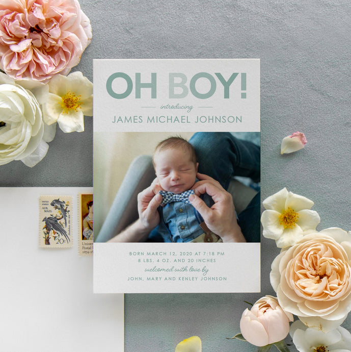Oh Boy! Birth Announcement