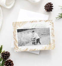 Load image into Gallery viewer, FOIL Pine Border Holiday Card
