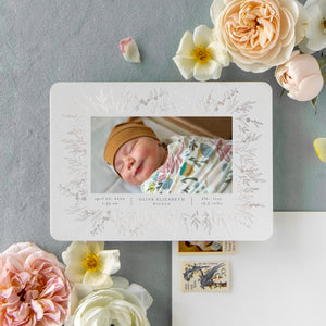 Real Foil - Prairie Flower Birth Announcement