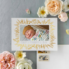 Load image into Gallery viewer, Real Foil - Prairie Flower Birth Announcement