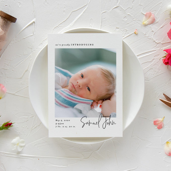 Signature Script Birth Announcement