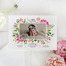 Load image into Gallery viewer, Summer Flowers Birth Announcement