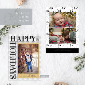 FOIL Happy Holidays Holiday Card