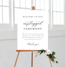 Load image into Gallery viewer, Unplugged Ceremony Sign
