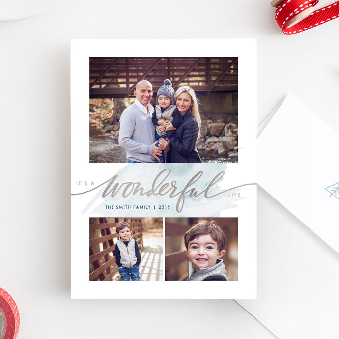 FOIL Wonderful Life Holiday Card