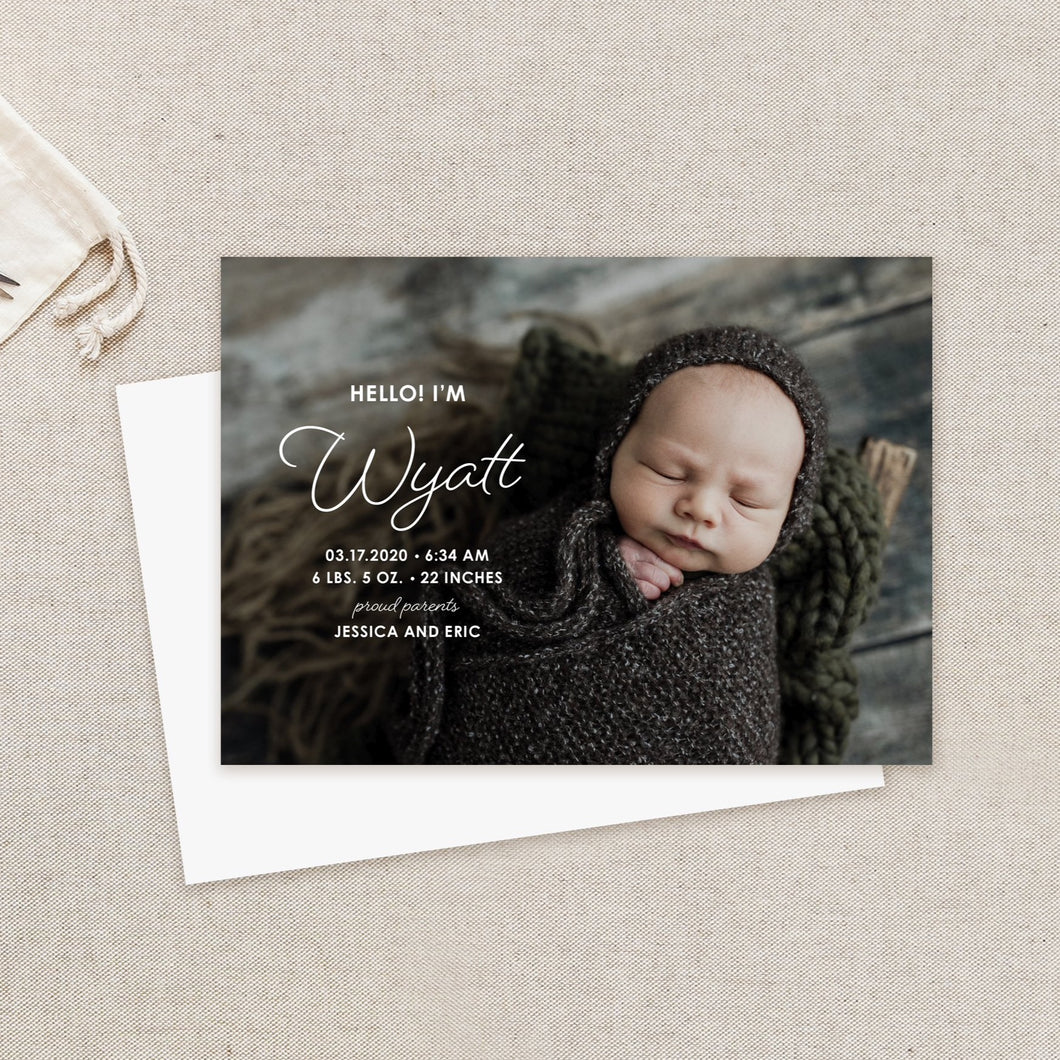 Chic Name Birth Announcement