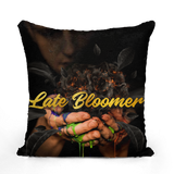 Late Bloomer Sequin Cushion Cover