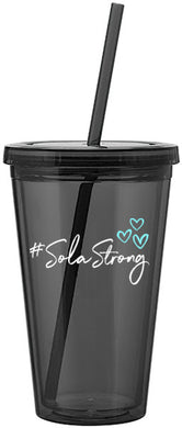 #SolaStrong 16 oz Reusable Cup (use code SOLASTRONG for 15% off)