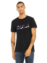 Load image into Gallery viewer, Unisex SOLA Tricolor Short Sleeve Tee