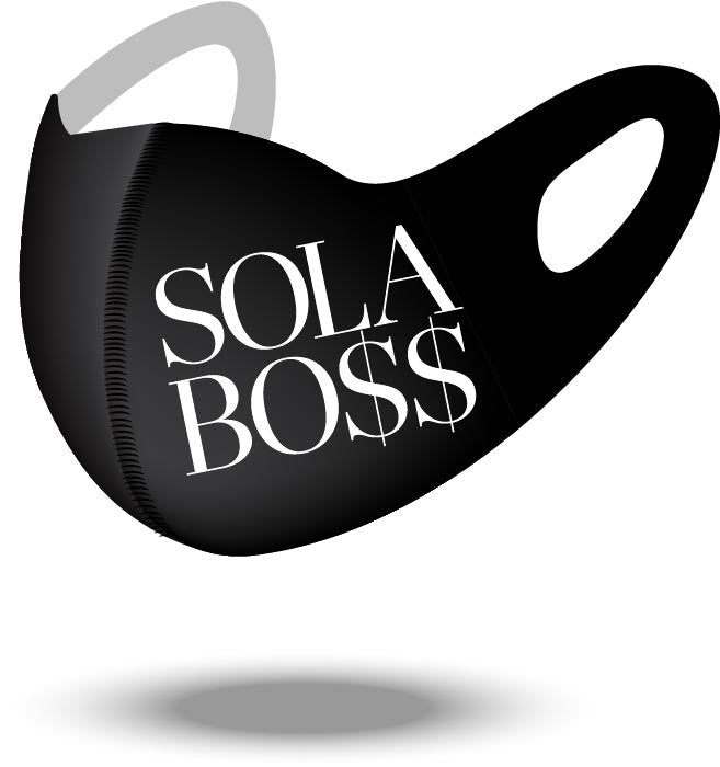 NEW Reusable SOLA BO$$ Mask with Contouring Nose Bridge