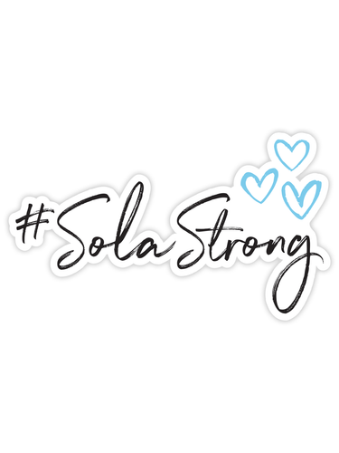 #SolaStrong Window Cling (use code SOLASTRONG for 15% off)