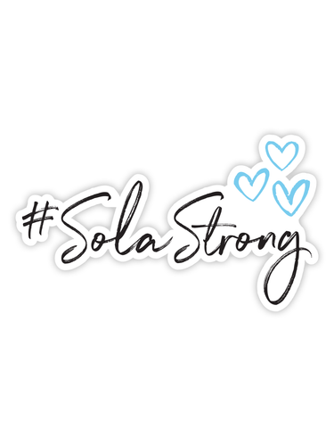 #SolaStrong Sticker (use code SOLASTRONG for 15% off)