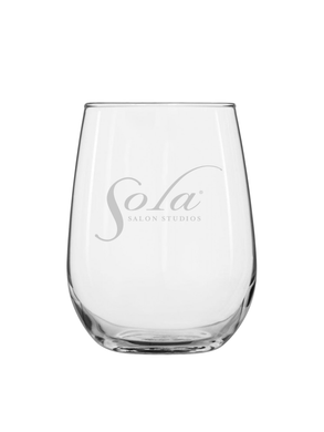 Sola Laser Etched Wine Glass