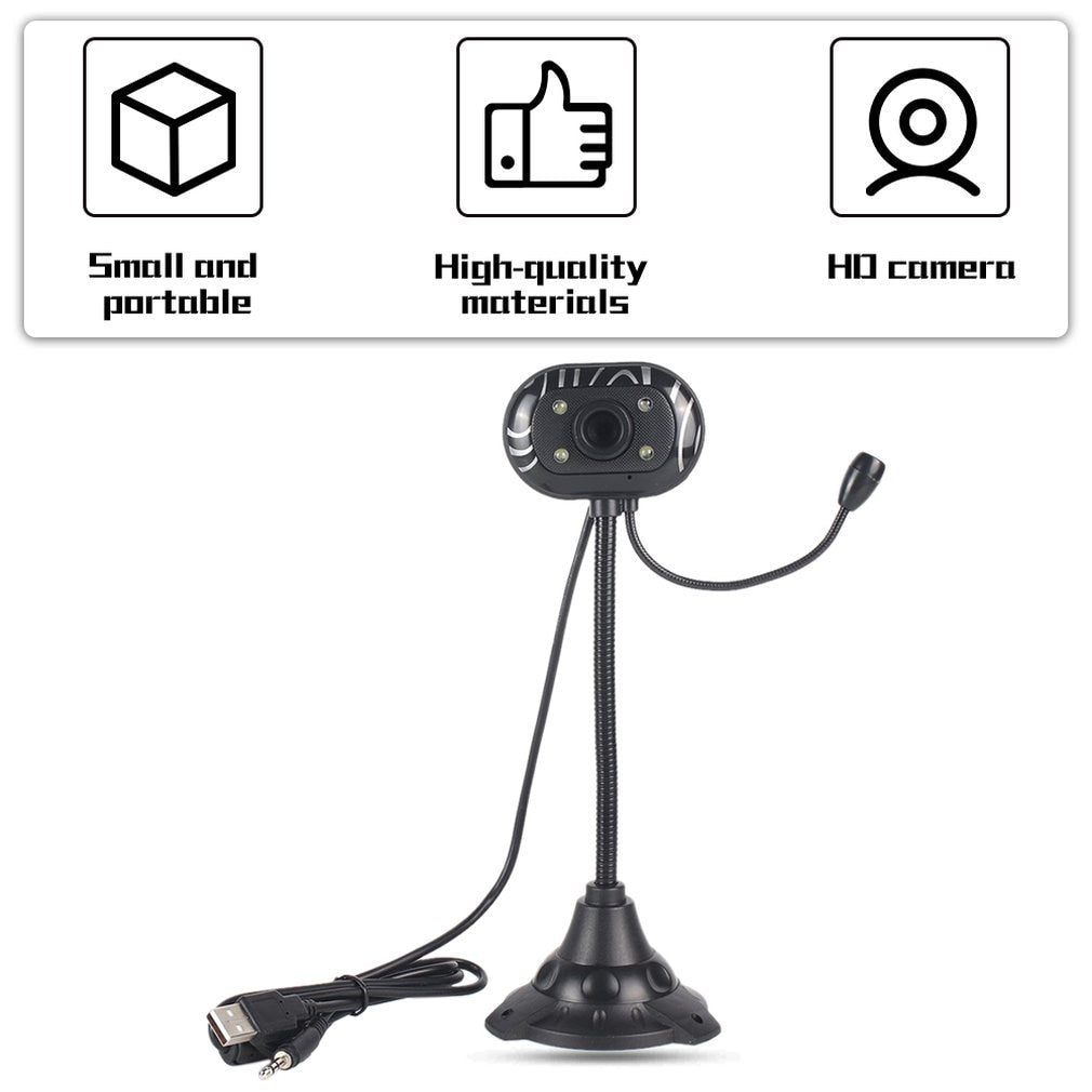 USB 2.0 Webcam Camera HD Webcam with Microphone MIC For PC