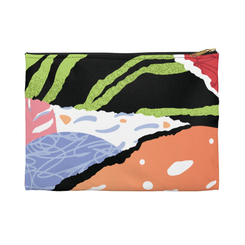 New By Firdous® BEAUTY Unisex Green Pop Art Accessory Pouch