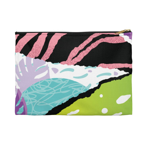 New By Firdous® BEAUTY Unisex Pink Pop Art Accessory Pouch