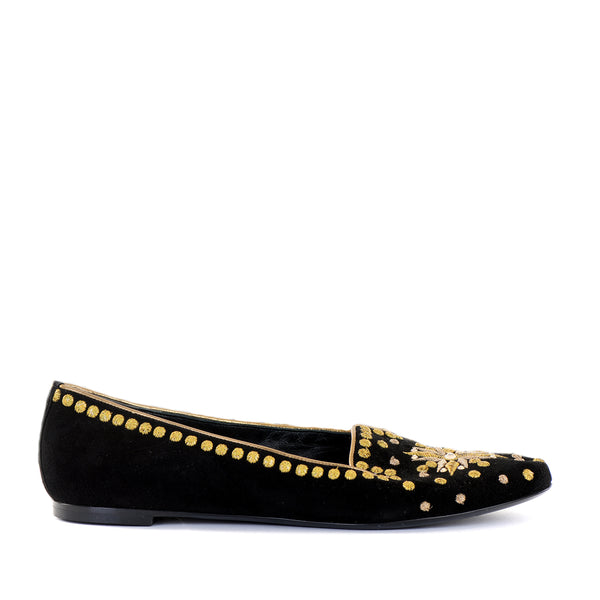 Flat Embroidered Loafers 39