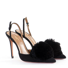 Load image into Gallery viewer, Suede Powder Puff Sling Backs 39