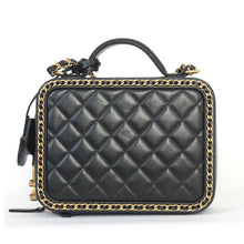 Load image into Gallery viewer, Quilted Leather Vanity Case