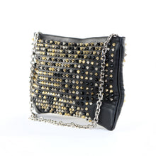 Load image into Gallery viewer, Loubiposh Mixed Metal Spiked Clutch