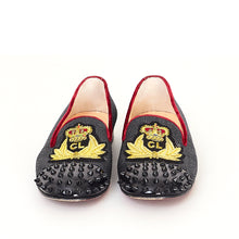 Load image into Gallery viewer, Fabric Studded Loafers 39