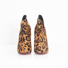 Load image into Gallery viewer, Leopard Pony Hair Ankle Boots 40