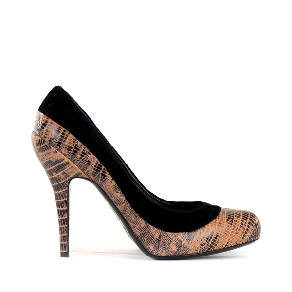 Python Suede Court Shoes 39