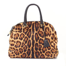 Load image into Gallery viewer, Leopard Pony Hair Bowling Bag