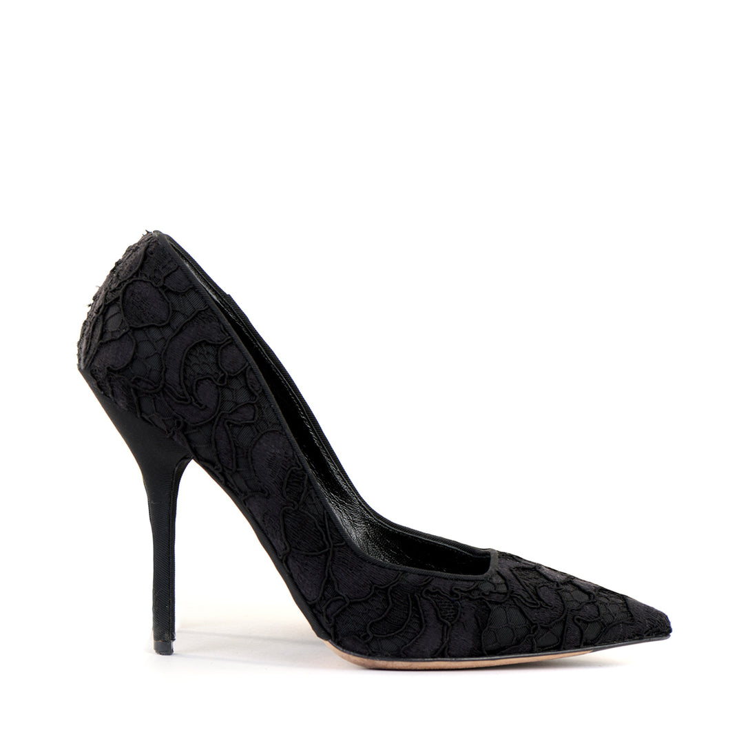 Lace Pointed Court Shoes 38