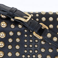 Load image into Gallery viewer, Leather Gold Studded Shoulder Bag