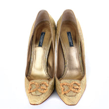 Load image into Gallery viewer, Vintage Brocade Court Shoes EU39