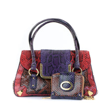 Load image into Gallery viewer, Vintage Multi Python Bag with Purse
