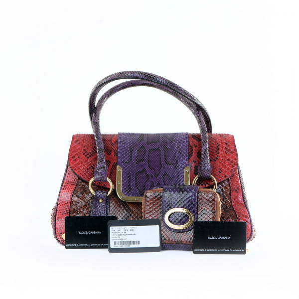 Vintage Multi Python Bag with Purse