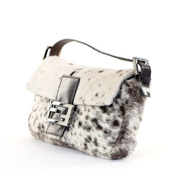 Pony Hair Forever Baguette Bag
