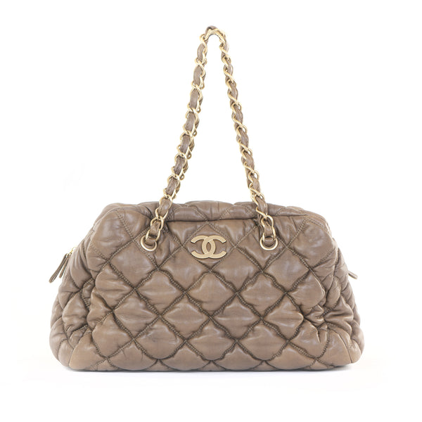 Quilted Bubble Bowler Bag