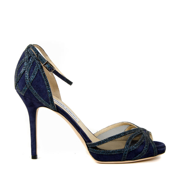 Mustique Suede Sparkle Sandals