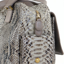 Load image into Gallery viewer, Square Snakeskin Top Handle Bag