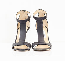 Load image into Gallery viewer, Leather Gold Wedge Sandals 39