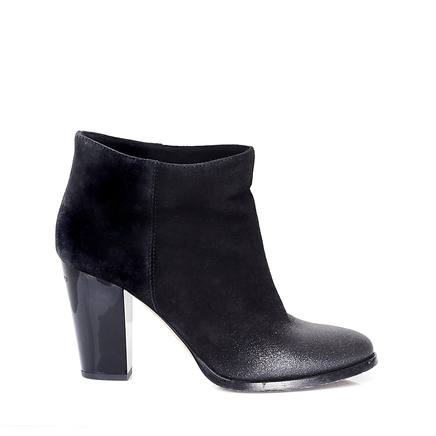 Marley Black Ombre Glitter Ankle Boots 39