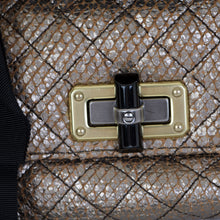 Load image into Gallery viewer, Happy Sac Metallic Quilted Charm Shoulder Bag