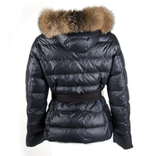 Load image into Gallery viewer, Black Belted Down Jacket UK10